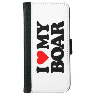 I LOVE MY BOAR iPhone 6 WALLET CASE