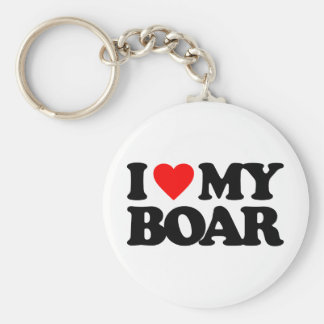 I LOVE MY BOAR KEYCHAINS