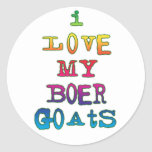 I Love My Boer Goats Classic Round Sticker