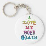 I Love My Boer Goats Keychain
