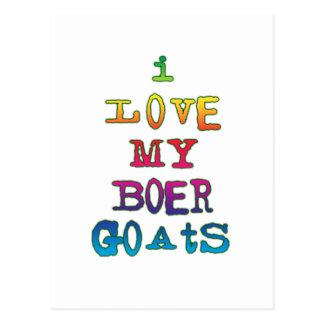 I Love My Boer Goats Postcard