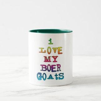 I Love My Boer Goats Two-Tone Coffee Mug