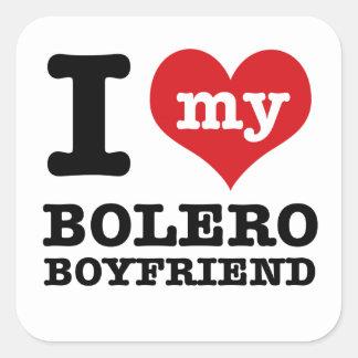 I love my Bolero husband Square Sticker