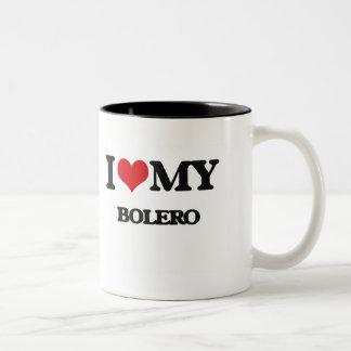 I Love My BOLERO Two-Tone Coffee Mug