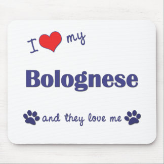 I Love My Bolognese (Multiple Dogs) Mouse Pad