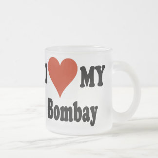 I Love My Bombay Cat Frosted Coffee Mug Frosted Glass Mug
