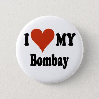 I Love My Bombay Cat Merchandise Pinback Button