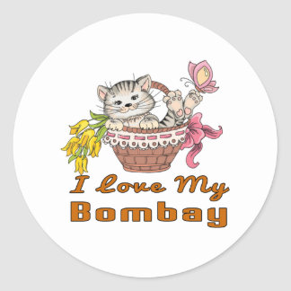 I Love My Bombay Classic Round Sticker