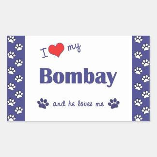I Love My Bombay (Male Cat) Rectangular Sticker