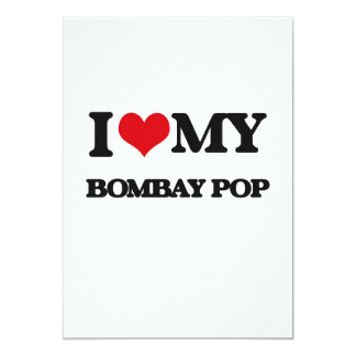 I Love My BOMBAY POP Personalized Announcement Card