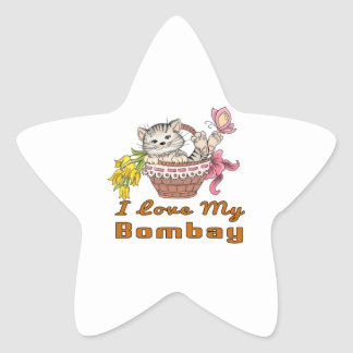 I Love My Bombay Star Sticker