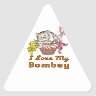 I Love My Bombay Triangle Sticker