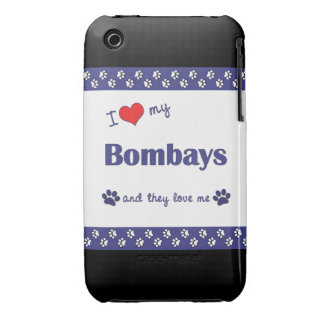 I Love My Bombays (Multiple Cats) iPhone 3 Case-Mate Cases
