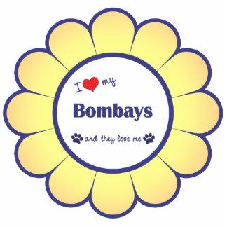 I Love My Bombays (Multiple Cats) Photo Statuette