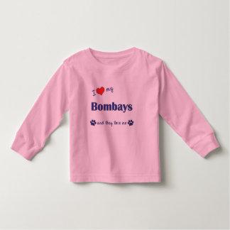 I Love My Bombays (Multiple Cats) T Shirt