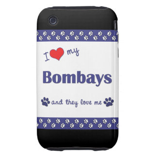 I Love My Bombays (Multiple Cats) Tough iPhone 3 Cover