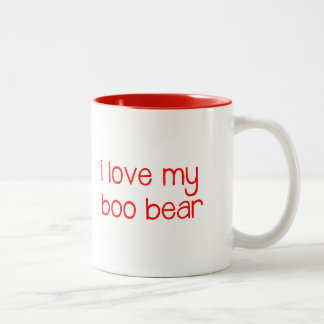 i love my boo bear mug - red