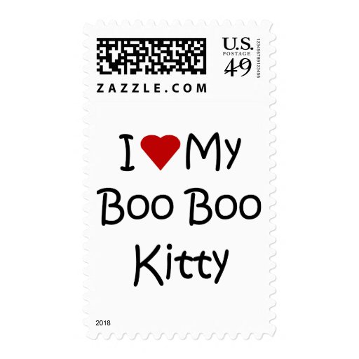 I Love My Boo Boo Kitty Postage Stamps
