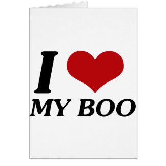 I Love My Boo (Heart) Card