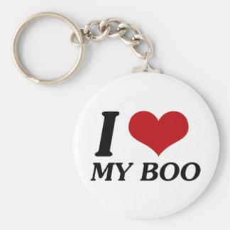 I Love My Boo (Heart) Basic Round Button Keychain