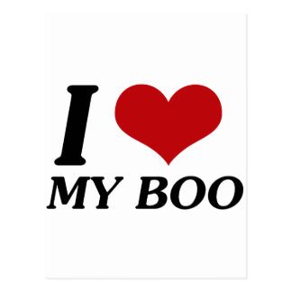 I Love My Boo (Heart) Postcard
