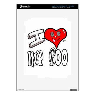 I Love My Boo iPad 3 Decals