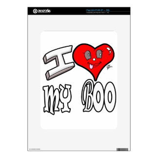 I Love My Boo iPad Skins