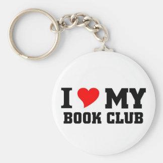 I love my Book Club Basic Round Button Keychain