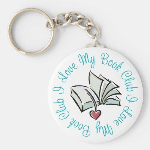 I Love My Bookclub Keychain