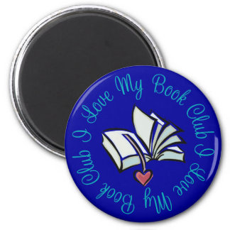 I Love My Bookclub 2 Inch Round Magnet
