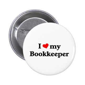I love my Bookkeeper Pinback Button