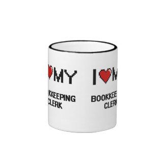 I love my Bookkeeping Clerk Ringer Mug