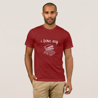 I Love My Books Short Sleeve T-Shirt