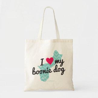I Love My Boonie Dog Tote Bag