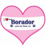 I Love My Borador (Female Dog) Photo Sculpture Ornament