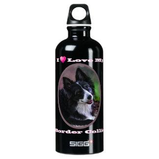 I love my border collie aluminum water bottle