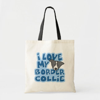I Love My Border Collie Bag