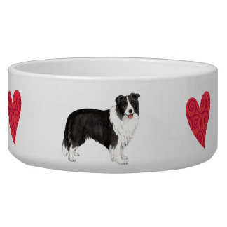 I Love my Border Collie Bowl