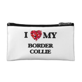 I love my Border Collie Cosmetic Bag