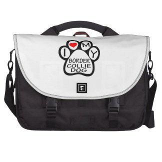 I Love My Border Collie Dog Commuter Bags