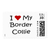 I Love My Border Collie Dog Lover Gifts Postage