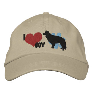 I Love my Border Collie Embroidered Hat