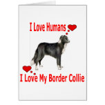 I Love My Border Collie Greeting Cards