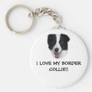 I LOVE MY BORDER COLLIE!! Keyring. Keychain