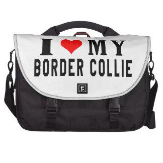 I Love My Border Collie Computer Bag