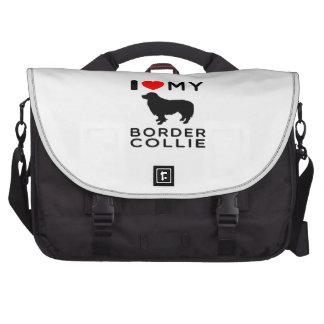 I Love My Border Collie Laptop Computer Bag