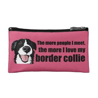 I love my border collie makeup bag