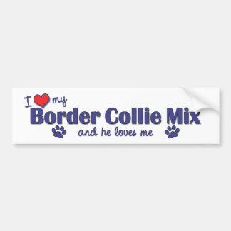 I Love My Border Collie Mix (Male Dog) Bumper Sticker
