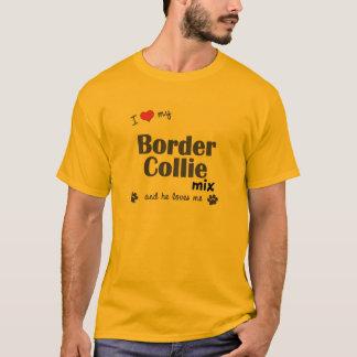 I Love My Border Collie Mix (Male Dog) T-Shirt