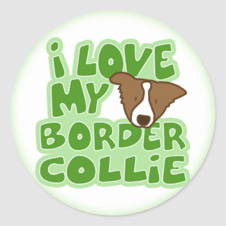 I Love My Border Collie Stickers